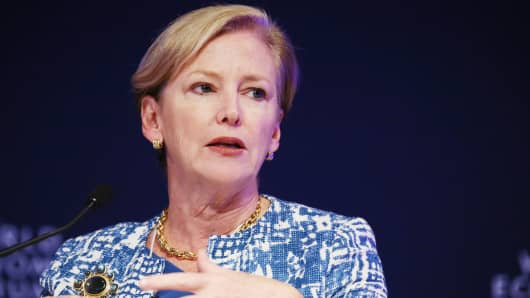 Ellen Kullman, chairman and chief executive officer of DuPont Co.