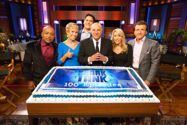 'Shark Tank' talent Mark Cuban, Barbara Corcoran, Lori Greiner, Robert Herjavec, Daymond John and Kevin O'Leary