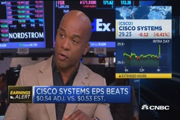 EPS & revenue beat for Cisco