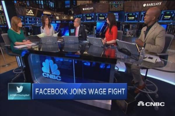 Facebook joins minimum wage battle