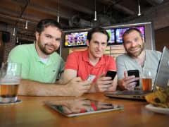 DraftKings founders (left to right) Paul Liberman, Jason Robins and Matt Kalish