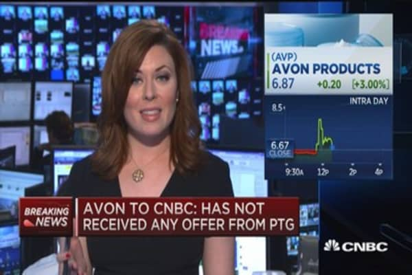 Avon to CNBC: Has not received any offer from PTG