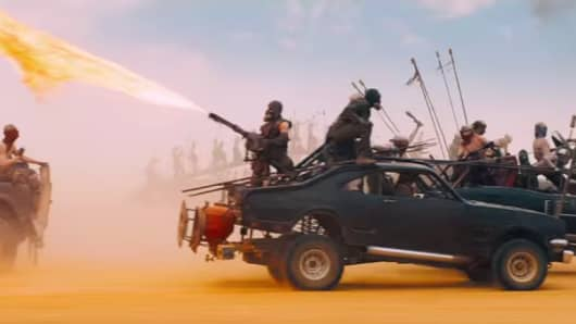 "A scene from ""Mad Max: Fury Road."""