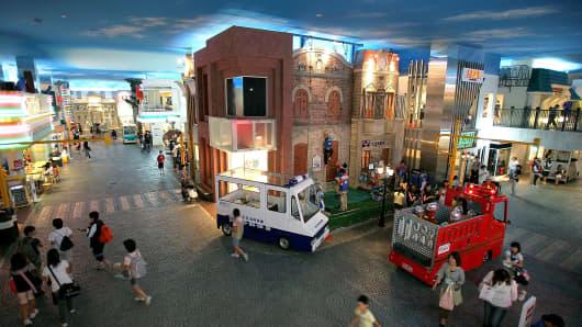 A general view of KidZania Tokyo.