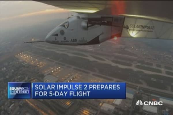 Around the world in a solar powered plane