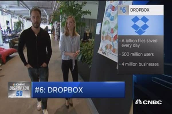 Disruptor #6 Dropbox: Business segment growing