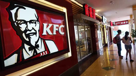 A KFC restaurant in Shanghai.