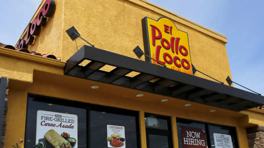 An El Pollo Loco restaurant is shown in San Diego, California