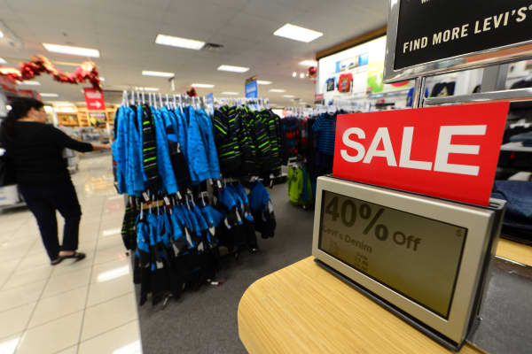 A woman shops at a Kohl's department store in Alhambra, California.