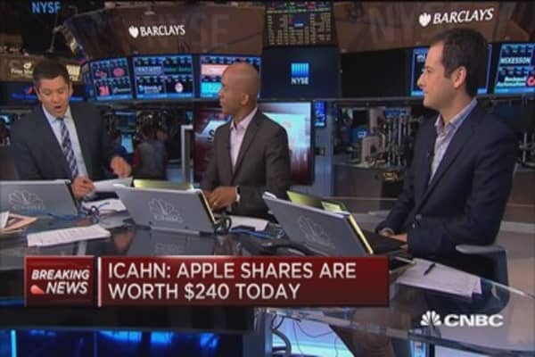 Carl Icahn: Apple worth $240/share today