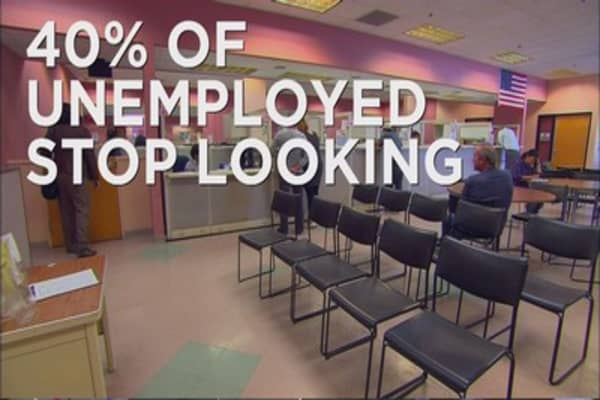 Unemployed are simply giving up