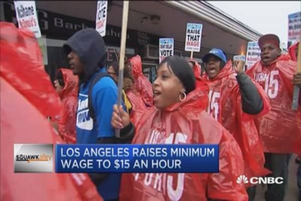 LA wage hike by 2020