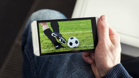 Streaming sports mobile phone