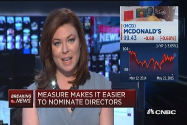 Major victory for McDonald's shareholders