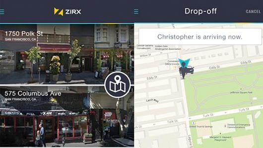 Zirx valet parking app.