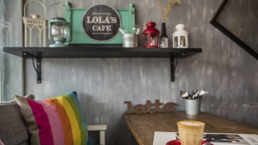 The Lola's Cafe located in the housing estate of Kovan, Singapore.