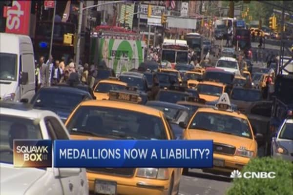 Medallion values slide, is Uber to blame?