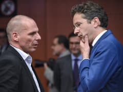Greek Finance Minister Yanis Varoufakis in debt bailout talks with eurozone finance ministers