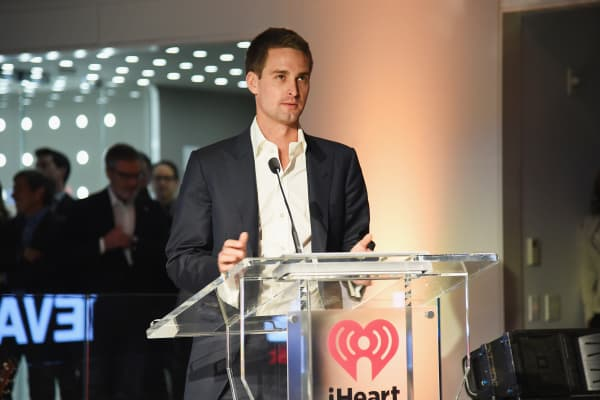 Snapchat co-founder and CEO Evan Spiegel