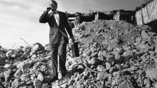 rubble pile