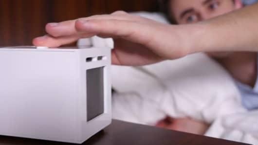 Sensorwake olfactory alarm clock.