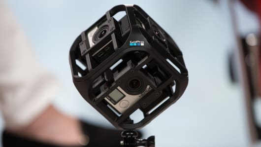 GoPro cube on display at Code Conference.
