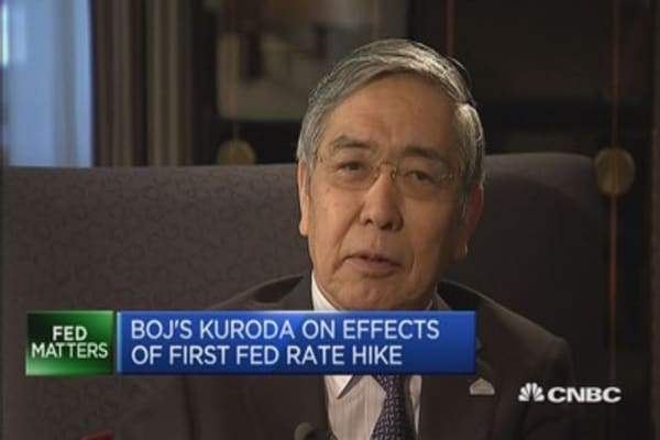 Fed rate hike shows strong US recovery: Kuroda