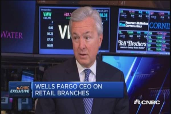 Branches important to ecosystem: Wells Fargo CEO