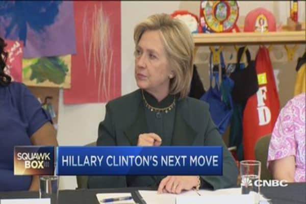 Hillary Clinton's next move