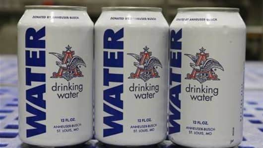 Beer giant Anheuser-Busch stopped production at its Georgia brewery this week to instead produce drinking water for those affected by a deadly bout of historic flooding and storms in Texas and Oklahoma.