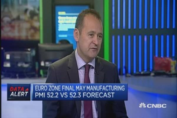 Euro zone May manufacturing PMI: Reaction