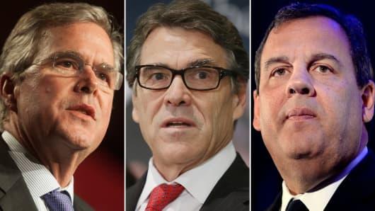 Jeb Bush, Rick Perry and Chris Christie