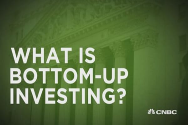 What is bottom-up investing?