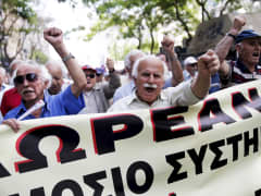 Greek pensioners demonstration