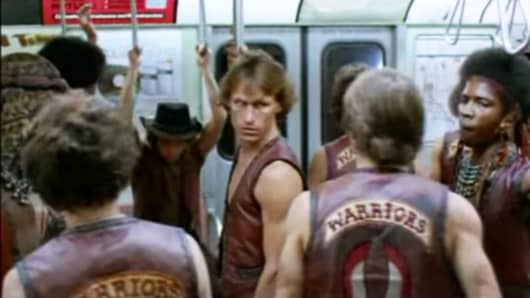 "A still from the movie ""The Warriors"""
