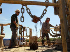Water drilling California drought