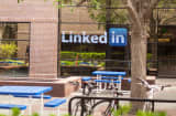 The LinkedIn building in Mountain View, California