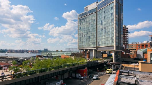The Standard, High Line hotel was built from the ground up in 2009. Rooms at this luxury hotel are available at a discount using the One Night Standard app.