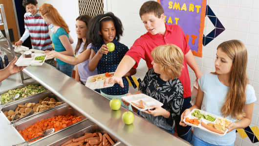 A file photo of a school cafeteria.