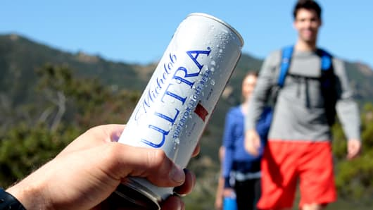 A promotional image for Michelob Ultra