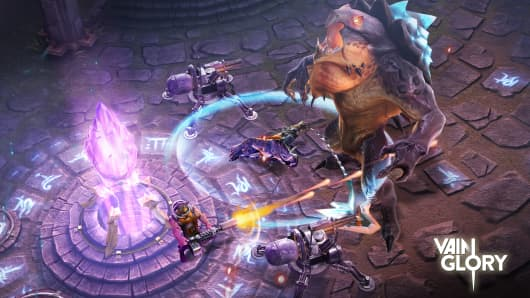A screen from Vainglory