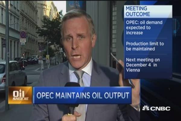 OPEC maintains oil output