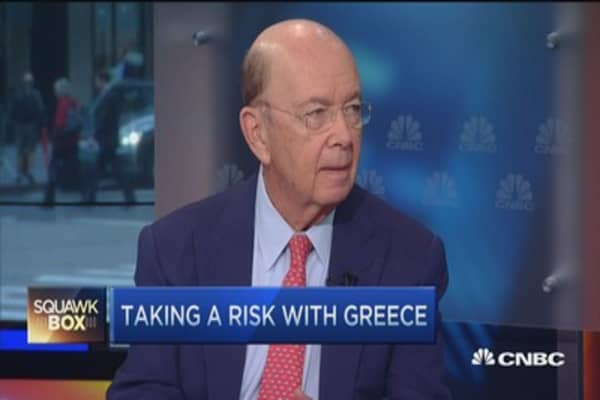 Greece 'overplayed' relative to global markets: Wilbur Ross