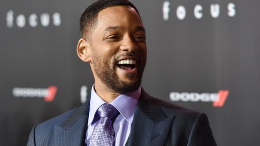 Actor Will Smith attends the premiere of Warner Bros. Pictures' 'Focus' at TCL Chinese Theatre on February 24, 2015 in Hollywood, California.