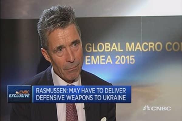 Rasmussen: No military solution to Ukraine crisis