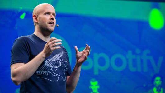 Daniel Ek, CEO and Founder of Spotify.