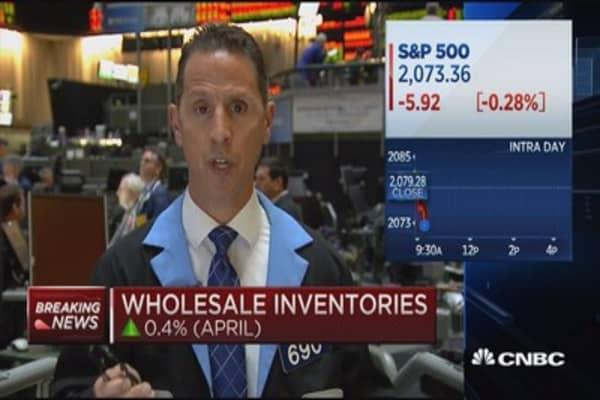 Wholesale inventories up 0.4%