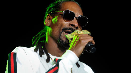 Snoop Dogg performing in Denver, last April.