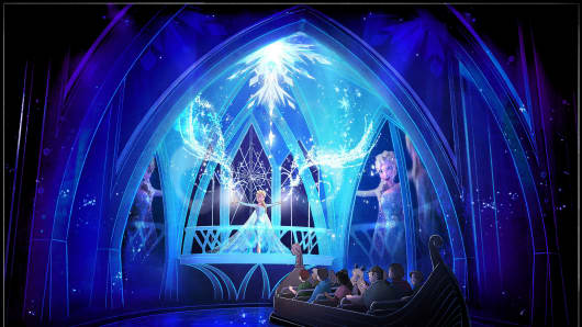 A rendering of Disney's new Frozen Ever After attraction at Epcot.