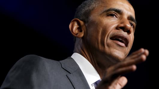 President Barack Obama delivers remarks at the Catholic Health Association conference in Washington June 9, 2015.